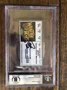 Stephen Curry Signed 2018 Nba Finals Game 4 Basketball Ticket Warriors Auto Bas