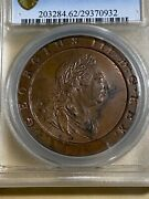 1797 Great Britain 2 Pence Graded Ms62bn By Pcgs Low Mintage