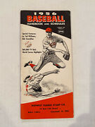 1956 Baseball Handbook And Schedule - Mantle Photo On Inside Cover