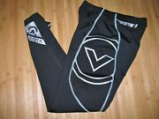 Virus Compression Tights Size Small Nylon Spandex Pants Black With Silver