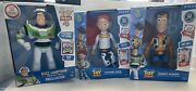 Toy Story Talking Sheriff Woody , Jessie And Buzz Action Figures Lot Disney Pixar