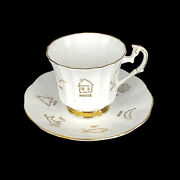 Taylor And Kent English China Cup And Saucer Red Rose Tea Cup Of Fortune 2 C.1964
