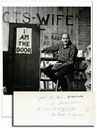 William Eisenlord-large Orig.photo Of Lawrence Ferlinghetti At City Lights-nf