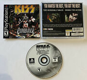 Kiss Pinball -complete Tested Ps1 Sony Playstation 1 2001 Rare Collectible