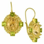 Queen Bess Citrine And Peridot Earrings Museum Of Jewelry