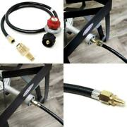 High Pressure Gas Regulator And Hose For L.p Grill Rv Propane 4ft 1/8 Mnpt Pipe