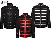 Ro Rox Menand039s Mcr Military Marching Band Drummer Music Festival Parade Jacket