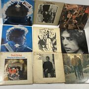 Bob Dylan Lot Of 9 Lps Records As Is - Worn Labels Untested