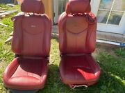 09-13 Infinity G37 Convertible Leather Power Seats Seat Red Bose Oem