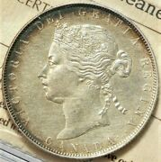 1871 Canada 50 Cents Iccs Ef40 Harshly Cleaned 11286