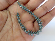 50pcs Blue Faceted Briolette Beads Natural Rough Raw 4 Diamond Sku-dds246/1