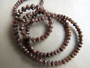 Red Diamond Beads Rough Natural Faceted 2-4mm 8 Inch Gemstone Half Strand Gm3