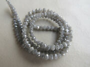 Rough Natural Diamond Beads Faceted Raw 4mm To 2mm 8 Inch Half Strand Gk5