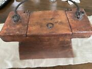 Orig. Sperm Whale Oil Holder.handmade From Sailing Ship.possibly One Of A Kind.