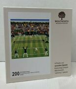 Wentworth 200 Whimsy Wooden Pieces Jigsaw Puzzle Wimbledon Tennis Complete Euc
