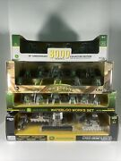 4- John Deere 1/64 Collectable Tractor Sets