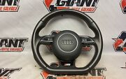 13 Audi S5 Oem Flat Bottom Steering Wheel With Horn Cover