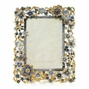 Jay Strongwater Ophelia Cluster Flower 5 X 7 Frame Sku Spf5859-284 New