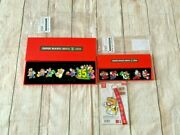 Nintendo Super Mario Bros 35th Anniversary Pins Complete Sets 1 And 2 Pin Keychain
