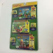 My First Leap Pad Interactive Learning Books And Cartridges Set Of 3 New/sealed