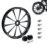 18/21/23/26/30and039and039 Wheel Rim Hub Single Disc Fit For Harley Road King Glide 08-21