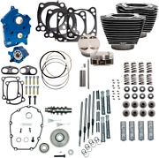 S And S Cycle Black Blue Water Cooled 128 Power Packages For M-eight 310-1108