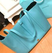 And Co. Blue New Leather Tote Bag That Can Hold A4 Size Cool