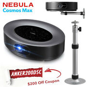 Anker Nebula Cosmos Max Home Entertainment Projector 4k Uhd Android Tv W/ Stand