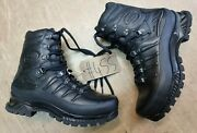 Meindl German Army Sf Issue Black Leather Goretex Combat Boots Size 8 Uk 455