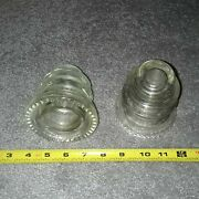 Antique Glass Insulators From Electric Fence