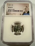 1959 Ngc Ms66ft Roosevelt Dime 10c Ms 66 Ft Full Torch