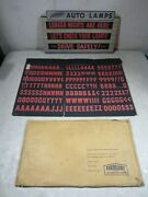 Vintage 1950and039s/60and039s Eveready Auto Lamps Cardboard Message Sign Nos Display