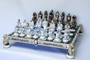 Russian Porcelain Chess Pieces Based On Fairy Tales Of A.s. Pushkin. Kislovodsk