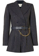 Collection Bella Hadid Sold Out At Andpound2500 Navy Playsuit Gold Stripe