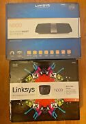Linksys N900 Wi-fi Wireless Dual-band+ Router W/gigabit And Usb Ports + Free N300