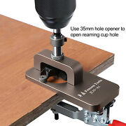 35mm Cup Style Hinge Boring Hole Opener + Bit Wood Cutter Woodworking Diy Tools