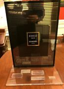 Coco Noir Store Display Stand Perfume Cosmetics Rare 17 X 13 X 7.5 In