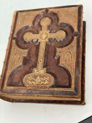 Antique, Beautiful And Rare Victorian-style Holy Bible 1800's