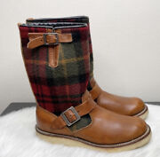 Red Wing Shoes 9008 Menandrsquos Engineer Lumberjack Boots Sz 9 Made In Usa Wool Fabric