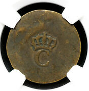 France Colonies. Copper Stampee 1779 Vlack 375 Ngc Xf40 Bn