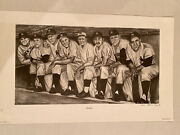 2002 Bloodline Ny Yankees Black And White Poster - 15 X 22 Inches - Mantle