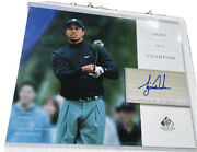 2004 Ud Upper Deck Sp Signature Tiger Woods Signs Of A Champion Auto 8x10👍