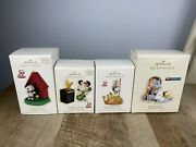 4 Hallmark The Peanuts Gang Ornaments. In The Groove Fearless Crew Christmas