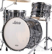 Ludwig Classic Mapie Vintage Black Oyster Fab 3pc Shell Pack 22/13/16 In Stock