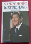 Reagan Signed In Book 1st Edition Speaking My Mind With Jsa Loa Ships Free
