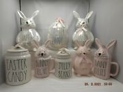 New Rae Dunn Artisan Easter Collection Jelly Bean Canisters Bunny Mugs Bunnies