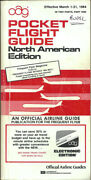 Oag Official Airline Guide North American Pocket Timetable 3/1/84 [1031]