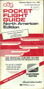 Oag Official Airline Guide North American Pocket Timetable 3/1/85 [1031]