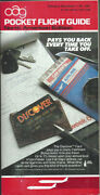 Oag Official Airline Guide North American Pocket Timetable 11/1/87 [1031]