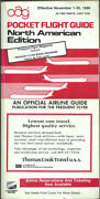 Oag Official Airline Guide North American Pocket Timetable 11/1/86 [1031]